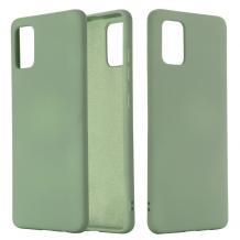 Луксозен силиконов калъф / гръб / Nano TPU за Samsung Galaxy S21 Ultra - тъмно зелен