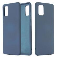 Луксозен силиконов калъф / гръб / Nano TPU за Samsung Galaxy S21 Ultra - тъмно син