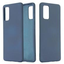 Луксозен силиконов калъф / гръб / Nano TPU за Samsung Galaxy S21 - тъмно син