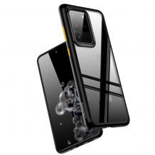 Луксозен гръб USAMS Janz Series за Samsung Galaxy S20 Plus - прозрачен / черен кант
