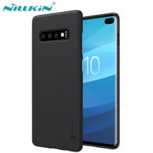 Луксозен твърд гръб Nillkin за Samsung Galaxy S10 - черен