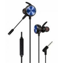 Геймърски стерео слушалки GM-D3 / Gaming Earphones GM-D3 - черни със синьо