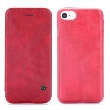 Луксозен кожен калъф Flip тефтер G-Case Business Series за Apple iPhone 7 / iPhone 8 - червен