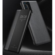 Луксозен активен калъф Smart View Cover за Huawei P40 Pro - черен