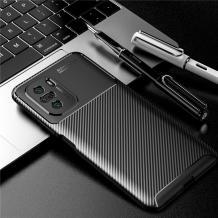 Луксозен силиконов калъф / гръб / TPU Auto Focus за Xiaomi Poco F3 - черен / Carbon