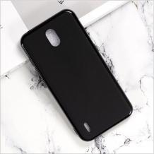 Силиконов калъф / гръб / TPU за Nokia 1.3 - черен / мат