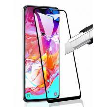 3D full cover Tempered glass screen protector Motorola Moto E6s / Извит стъклен скрийн протектор Motorola Moto E6s - черен
