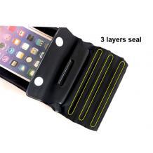 Универсален водоустойчив калъф Waterproof Case за мобилен телефон 6'' - черен