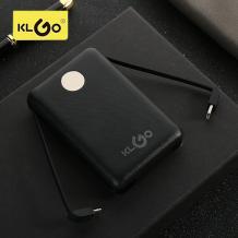 Универсална външна батерия Power Bank KLGO KP-52 3in1 / Lightning, Micro USB, Type-C 10000mAh - черна