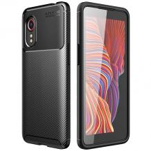 Луксозен силиконов калъф / гръб / TPU Auto Focus за Samsung Galaxy XCover 5 - черен / Carbon
