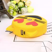 Универсална външна батерия Cartoon Emoji / Universal Power Bank Cartoon Emoji 5600mAh - Cat / Emoji