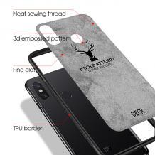 Луксозен гръб Deer за Xiaomi Redmi Note 5 / Note 5 Pro - син