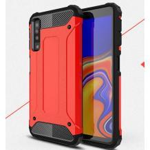 Силиконов гръб TPU Spigen Hybrid с твърда част за Samsung Galaxy A7 2018 A750F - червен