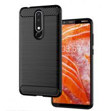 Силиконов калъф / гръб / TPU за Nokia 3.1 Plus - черен / carbon