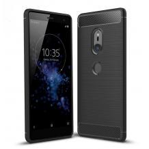 Силиконов калъф / гръб / TPU за Sony Xperia XZ2 - черен / carbon