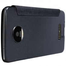 Луксозен кожен калъф Flip тефтер NILLKIN Sparkle за Lenovo Moto Z - черен