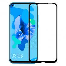 3D full cover Tempered glass Full Glue screen protector Huawei P Smart Z / Y9 Prime 2019 / Извит стъклен скрийн протектор с лепило от вътрешната страна за Huawei P Smart Z / Y9 Prime 2019 - черен
