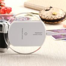 Универсално зарядно за безжично захранване / Fantasy Wireless Charger Pad Qi Standard - бяло
