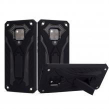 Силиконов гръб TPU Hybrid с твърда част и стойка за Huawei Mate 20 Pro - черен