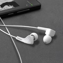 Оригинални стерео слушалки Remax Proda PD-E100 / handsfree / - бели