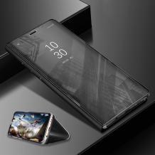 Луксозен калъф Clear View Cover с твърд гръб за Apple iPhone XS Max - черен