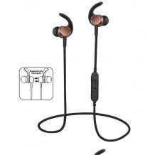 Стерео Bluetooth / Wireless слушалки MS-T3 - черни със златно