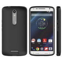 Силиконов калъф / гръб / TPU за Motorola Moto X Force - черен / мат
