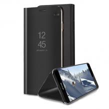 Луксозен калъф Clear View Cover с твърд гръб за Xiaomi RedMi S2 - черен