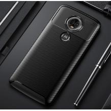 Луксозен силиконов калъф / гръб / TPU Auto Focus за Motorola Moto E5 Plus - черен / Carbon