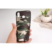 Силиконов калъф / гръб / TPU за Samsung Galaxy A40 - камуфлаж / зелен