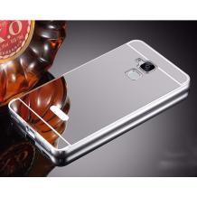 Луксозен алуминиев бъмпер с твърд гръб за Asus Zenfone 3 Max ZC520TL - огледален / сребрист
