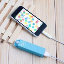Универсална външна батерия / Universal Power Bank Milk / Micro USB Data Cable 2600mAh - синя