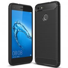 Силиконов калъф / гръб / TPU за Motorola Moto E6 Play - черен / carbon