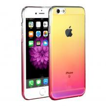 Луксозен гръб Glaze Case за Apple iPhone 6 / iPhone 6S - преливащ / златисто и розово