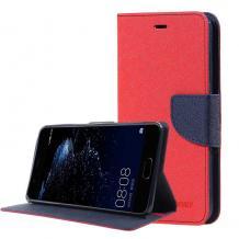 Кожен калъф Flip тефтер със стойка MERCURY Fancy Diary за Moto Z2 Play - червен