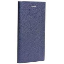 Кожен калъф Bravo Book със стойка за Apple iPhone 5 / iPhone 5S / iPhone SE - син / Flexi