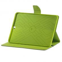 """Кожен калъф Flip тефтер Mercury GOOSPERY Fancy Diary със стойка за Samsung Galaxy Tab S2 8.0"""" T710 / T715 - син със зелено"""
