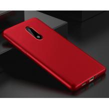 Силиконов калъф / гръб / TPU за Alcatel 3 - червен / мат