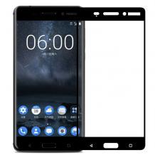 3D full cover Tempered glass Full Glue screen protector Nokia 7.1 Plus 2018 / Извит стъклен скрийн протектор с лепило от вътрешната страна за Nokia 7.1 Plus 2018 - черен