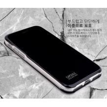 Луксозен кожен калъф Flip тефтер със стойка OPEN за Apple iPhone 7 / iPhone 8 - черен / гланц