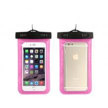 Универсален водоустойчив калъф Waterproof за мобилен телефон - розов