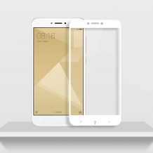3D full cover Tempered glass screen protector Xiaomi Redmi Note 5A Prime / Извит стъклен скрийн протектор Xiaomi Redmi Note 5A Prime - бял