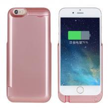 Твърд гръб / външна батерия / Battery power bank 3800mAh със стойка за Apple iPhone 6 / iPhone 6S - Rose Gold