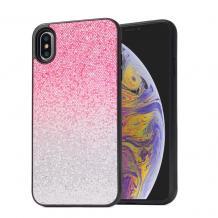 """Луксозен силиконов гръб с камъни за Apple iPhone 11 Pro 5.8"""" - розово и сребристо / преливащо"""