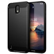 Силиконов калъф / гръб / TPU за Nokia 1.3 - черен / carbon