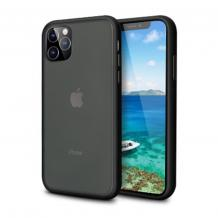 """Луксозен твърд гръб ICE със силиконова рамка за Apple iPhone 11 Pro 5.8"""" - прозрачен / черен"""