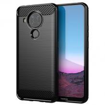 Силиконов калъф / гръб / TPU за Nokia 5.4 - черен / carbon