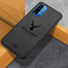 Луксозен гръб Deer за Xiaomi Redmi 9T - черен