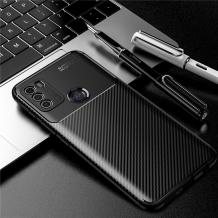 Луксозен силиконов калъф / гръб / TPU Auto Focus за Motorola Moto G50 - черен / Carbon