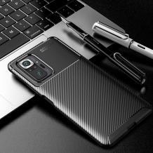 Луксозен силиконов калъф / гръб / TPU Auto Focus за Motorola Moto G100 - черен / Carbon